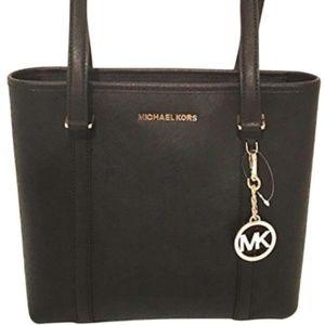 Michael Kors Small Sady Black Saffiano Tote Bag